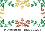 frame of wild plants  used... | Shutterstock .eps vector #1837961236