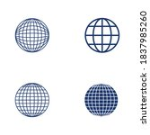 wire world logo template vector ... | Shutterstock .eps vector #1837985260