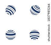 wire world logo template vector ... | Shutterstock .eps vector #1837985266