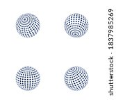 wire world logo template vector ... | Shutterstock .eps vector #1837985269