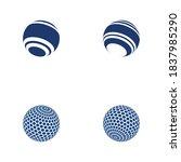 wire world logo template vector ... | Shutterstock .eps vector #1837985290