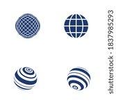 wire world logo template vector ... | Shutterstock .eps vector #1837985293