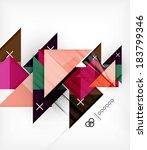 vector geometric design... | Shutterstock .eps vector #183799346