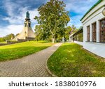 Monument of peace (Mohyla miru in czech speak) - in memory battle of Slavkov (Austerlitz) battleground during Napoleonic wars in 1805. South Moravia region, Czech Republic.