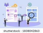 seo vector concept  business... | Shutterstock .eps vector #1838042863