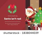 some people say santa isn't... | Shutterstock . vector #1838044039