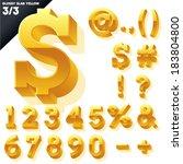vector alphabet of simple 3d...   Shutterstock .eps vector #183804800
