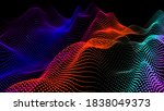 abstract digital landscape with ...   Shutterstock .eps vector #1838049373