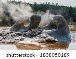 Grotto Geyser Steaming Vapor In ...