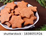 Gingerbread Star Cookies On The ...