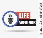 live broadcast button. online...   Shutterstock .eps vector #1838053540