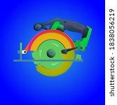 vector design of circular saw... | Shutterstock .eps vector #1838056219