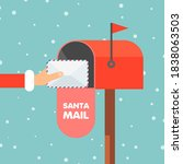 Letter To Santa Claus. Hand...