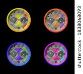 realistic wristwatch... | Shutterstock .eps vector #1838068093