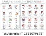 routes of transmission  signs... | Shutterstock . vector #1838079673