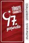 29 october national republic... | Shutterstock .eps vector #1838097853
