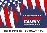 national military family month... | Shutterstock .eps vector #1838104450