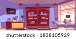 cheese shop interior with... | Shutterstock .eps vector #1838105929