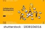 collaborative development...   Shutterstock .eps vector #1838106016