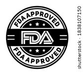 fda approved. stamp with text... | Shutterstock .eps vector #1838107150