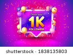 thank you followers peoples  1k ... | Shutterstock .eps vector #1838135803