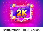 thank you followers peoples  2k ... | Shutterstock .eps vector #1838135806