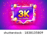thank you followers peoples  3k ... | Shutterstock .eps vector #1838135809