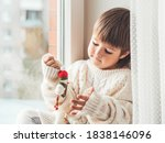 Kid With Felt Decorative...