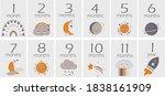 set of baby monthly milestone... | Shutterstock .eps vector #1838161909