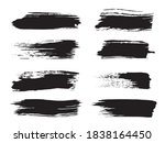 brush touch. gray ink stain... | Shutterstock .eps vector #1838164450