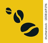vector flat coffee beans icons  | Shutterstock .eps vector #1838169196