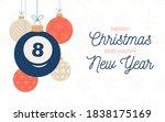 billiard holiday banner. merry...   Shutterstock .eps vector #1838175169