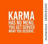 karma has no menu  you get...   Shutterstock .eps vector #1838181043
