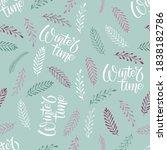 nature winter seamless pattern. ...   Shutterstock .eps vector #1838182786