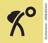 flat simple vector travelling... | Shutterstock .eps vector #1838183263