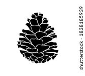 silhouette of a pine cone.... | Shutterstock .eps vector #1838185939