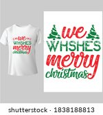 we wish you a merry christmas. ...   Shutterstock .eps vector #1838188813