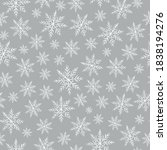 crayon snowflakes pattern....   Shutterstock .eps vector #1838194276