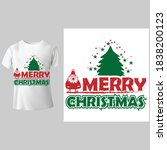 we wish you a merry christmas.... | Shutterstock .eps vector #1838200123