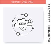 cloud based crm line icon.... | Shutterstock .eps vector #1838217853