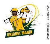 cricket australia | Shutterstock .eps vector #183824924