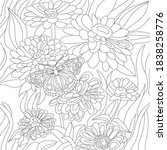 vector coloring botanical... | Shutterstock .eps vector #1838258776