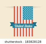 usa design over beige... | Shutterstock .eps vector #183828128
