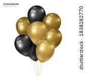 3d vector realistic golden with ... | Shutterstock .eps vector #1838282770