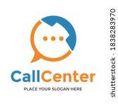 call center vector logo... | Shutterstock .eps vector #1838283970