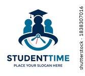 student time vector logo... | Shutterstock .eps vector #1838307016