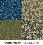 military style camouflage...