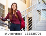 female high school student... | Shutterstock . vector #183835706