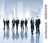 group of business people.... | Shutterstock .eps vector #183836396