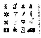 sign icon set  medical